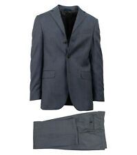 NWT CARUSO Blue Wool 3 Roll 2 Button Classic Fit Suit 52/42 R Drop 6