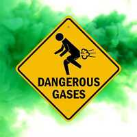 Dangerous Gases - Fart Warning Sign - Fun Gag Gift - Dorm & Boys Room Decor -Fun
