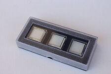 Astuccio scatola  pietre preziose diamanti espositore 3 scatoline
