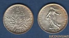 V Repubblica, 1959 - 5 Franchi Donna che semina in argento 1960 SPL