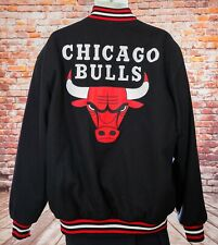NBA Basketball Chicago Bulls JH Design Black Varsity Jacket  Mens Size XL