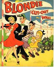 Vintage Uncut 1947 Blondie Paper Dolls~#1 Reproduction~#1 Seller~Rare Set!