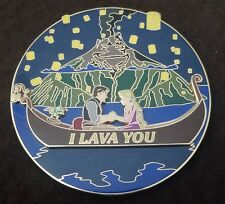 "Fantasy LE 75 Trading Pin Jumbo ""I Lava You"" Rapunzel and Flynn- Disney Inspired"