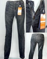 Woman jeans Trussardi size 38  black velvet stretch slim fit handcrafted £ 150