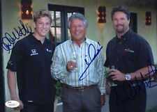 Mario, Michael & Marco Andretti Signed 8x12 Glossy Photo JSA Authenticated