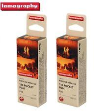 2 Rolls Lomography LOMO Lobster Redscale Negative ISO 200 Color 110 Pocket Film