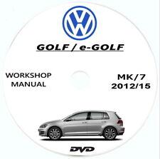 Workshop Manual Volkswagen GOLF/GTI,manuale officina+schemi elettrici Golf 7(5G)