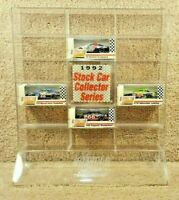 1992 Action RCCA Club 1:64 NASCAR 16 Car Acrylic Display Case Stand w/ 4 Cars