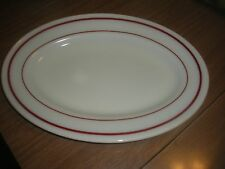 """Vintage Pyrex Single Serving Platter 11 1/2"""" white w/ red 1 Up To 30"""