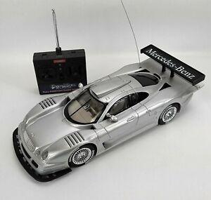 Mercedes Benz CLK-LM Silver Full Function Radio Control RC Car 1:12 Scale RARE