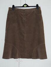 UK 14 JIGSAW Brown Corduroy Skirt (255)