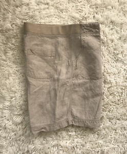 J Jill Women💯 Linen Bermuda Shorts natural size M nwot