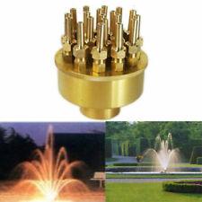 "1.5"" Adjustable Water Fountain Nozzle 19 Sprinklers Spray Head Pond Pool Brass"