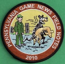 """Pa Pennsylvania Game Commission NEW 4"""" 2010 Pa Game News / Field Notes Patch"""