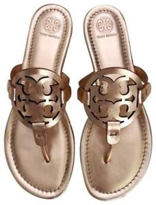 GORGEOUS Tory Burch 'Miller' Rose Gold Leather Thong Sandal SZ. 8.5 M