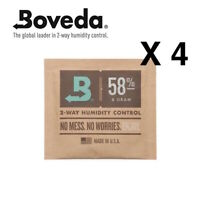 NEW Boveda 8 gram 58% Humidipack - 2 Way Humidity Control (4 x 8g)