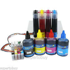 CISS & Ink Set for Epson Expression XP-310 XP-410 Workforce WF2520 CIS