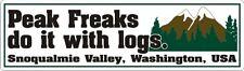 """Twin Peaks - Peak Freaks Logs - Sticker - 2.5"""" x 8.5"""""""