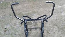 E Z GO TXT Golf Cart Part Bag Rack and Sweater Basket with Bag Straps 1994-Up