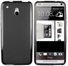 GENUINE INVENTCASE BLACK TPU GEL CASE COVER SKIN + FILM FOR HTC ONE MINI M4