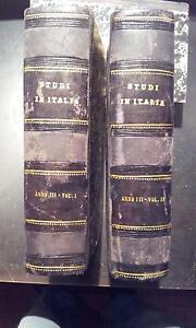 Gli Studi in Italia, 2 Volumi, Periodico Scientifico Letterario,  Anno III 1878