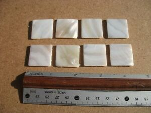 20 mm Square  Freshwater Mother of Pearl Flat Blank - Antique Box Repair