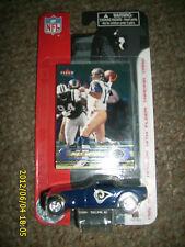 NFL RAMS KURK WARNER FLEER CARD WITH 1:55 SCALE CHYSTLER  HOWLER