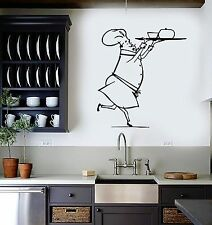 Vinyl Wall Decal Chef Restaurant Cook Food For Kitchen Stickers Mural (ig1630)