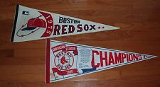 Lot of (2) Different Boston Red Sox Full-Size Pennants: 1975, 1986