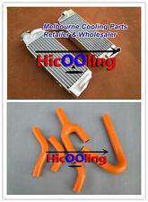 KTM 250/300/380 SX/EXC 1998-2003 99 2000 2001 2002 aluminum radiator+orange hose
