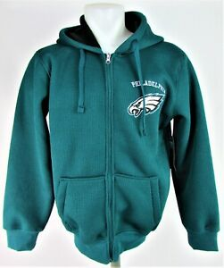 Philadelphia Eagles NFL G-III Men's Green Knit Full Zip Hoodie