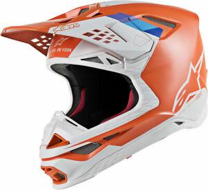 Alpinestars MX Motocross Supertech M8 Contact Helmet (Orange/Gray) X-Small