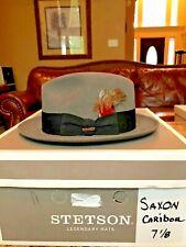 """STETSON """"SAXON"""" ROYAL CARIBOU 7 1/8 CLASSIC FEDORA!"""