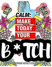 Calm: Make Today Your Bitch the Epic Profane Adult Coloring Book: Swear Word fin