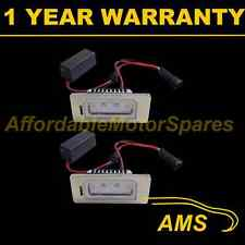 2X FOR VW GOLF PLUS VARIANT ALUMINIUM 2 CREE WHITE LED NUMBER PLATE LAMPS