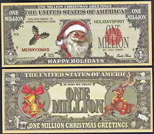 Santa Christmas Happy Holidays Million Dollar Bill Fake Funny Money Novelty Note