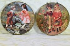Vintage Nuhl Antique Reproductions Flue Covers Set Of 2