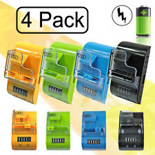 4Pcs Universal CellPhone Camera Battery Home Travel Wall Charger & LED Indictor