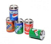 Dolls House 5 Soda Pop Cans Tins Miniature 1:12 Metal Pub Drinks Shop Accessory