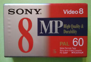 Videocassetta SONY Video 8 MP PAL 60 High Quality SIGILLATA NEW no vhs cd mc lp