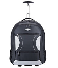 Coofit Deluxe Rolling Backpack 15 Inch Laptop Wheeled Backpacks Luggage Bag