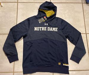 UNDER ARMOUR Storm Notre Dame Fighting Irish Water Resistant Hoodie Men's Medium