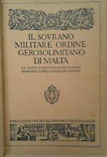 IL SOVRANO MILITARE ORDINE GEROSOLIMITANO DI MALTA - SMOGM 1932 - 1934