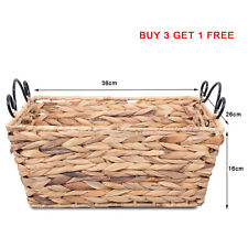 Water Hyacinth Storage Gift Basket With Handle