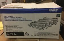 Genuine Brother DR-221CL 4-piece Drum Unit Set For MFC9130 Printers And More
