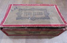 Vintage Empty  Cigar Box Red Band 5 Cents 176 Dist Wis Seal of Perfection >