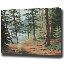 Paint By Numbers Kit Forest Trees Nature DIY Picture 40x50cm Canvas Wall Decor