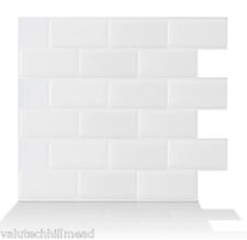 Smart Tiles Subway 27.81cm x 24.64cm Peel & Stick Subway Tile in White