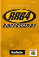 Ridge Racer 64 - Authentic Nintendo 64 (N64) Manual