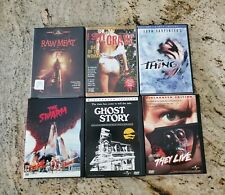THE SWARM THEY LIVE GHOST STORY THING RAW MEAT I SPIT ON YOUR GRAVE DVD HORROR